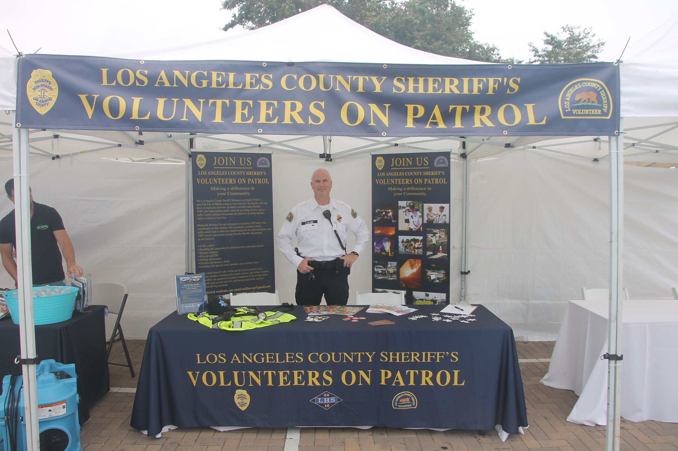 Volunteers on Patrol Booth