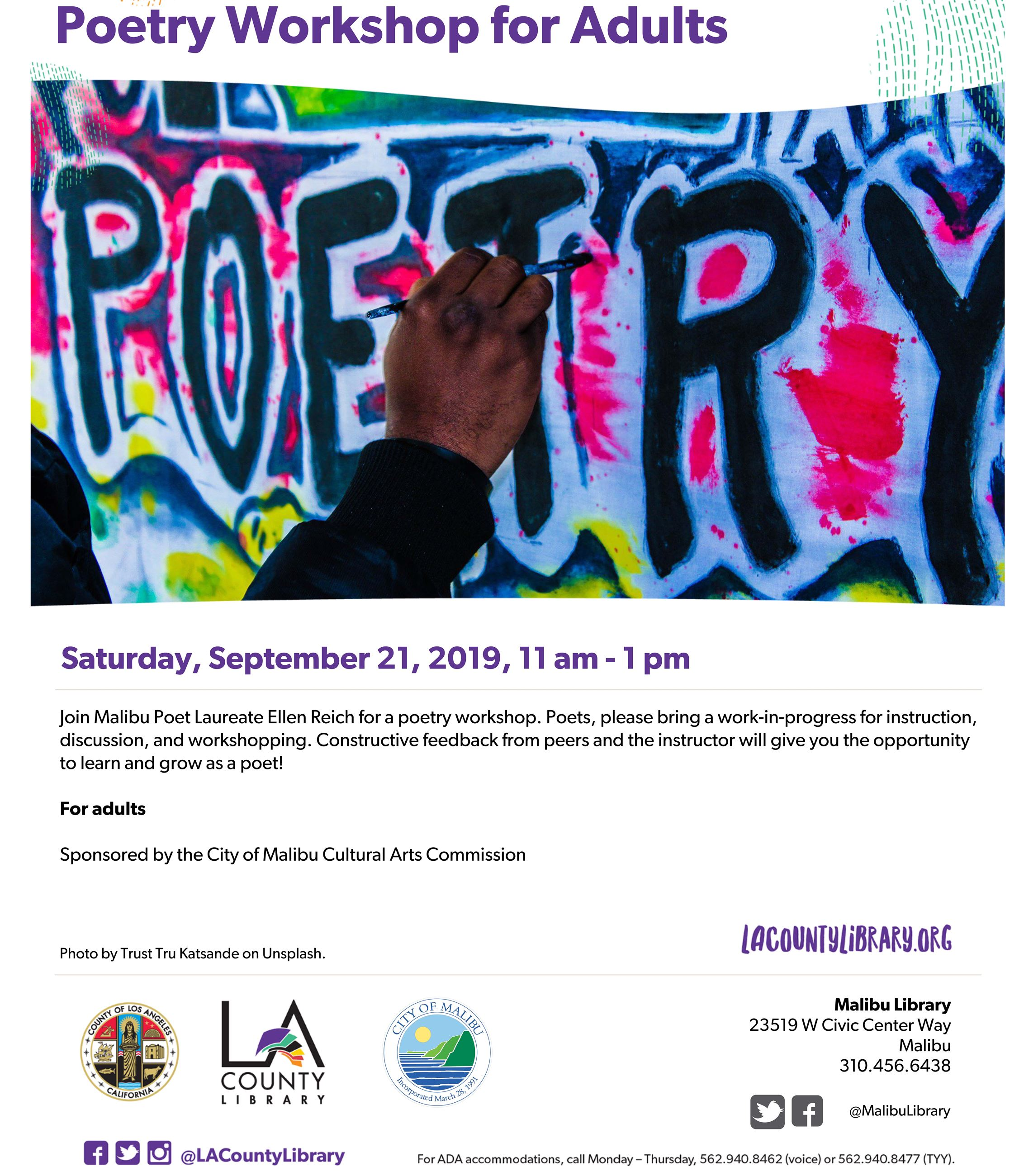 PoetryWorkshop September 2019