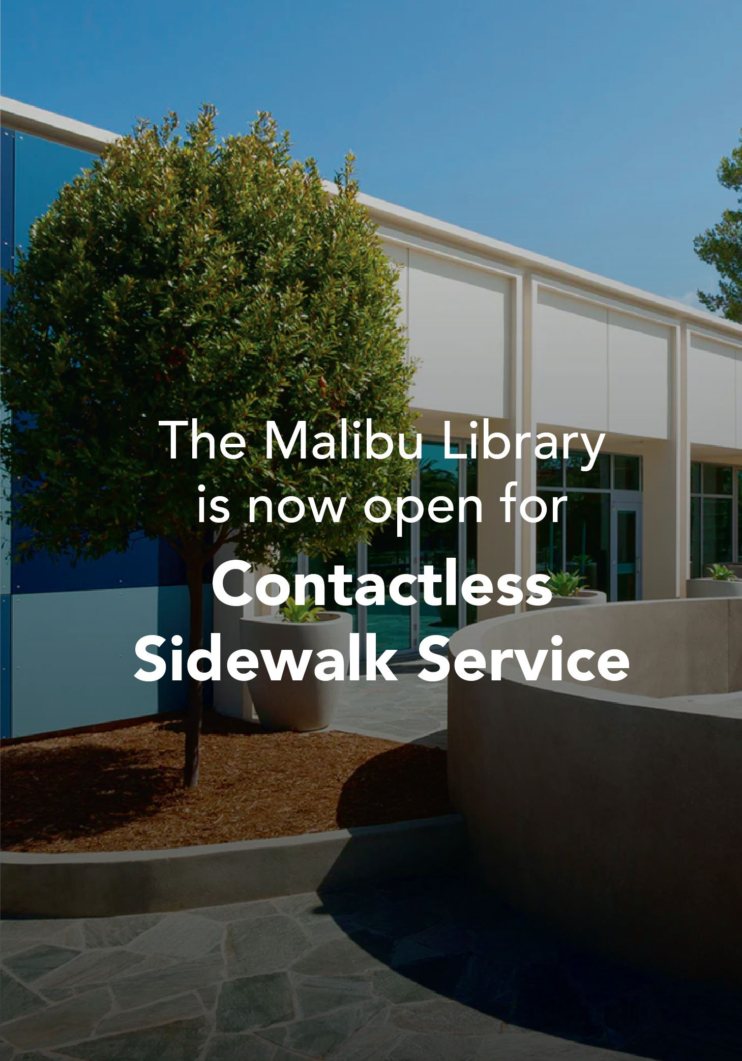 Malibu Library Open for Contactless Service