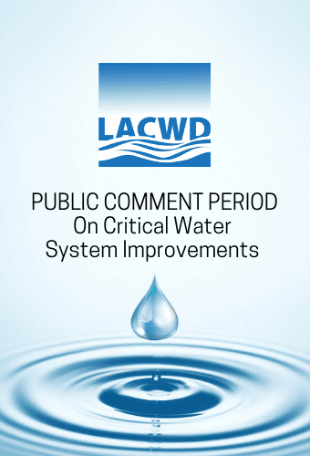 public comment period for critical water system improvements
