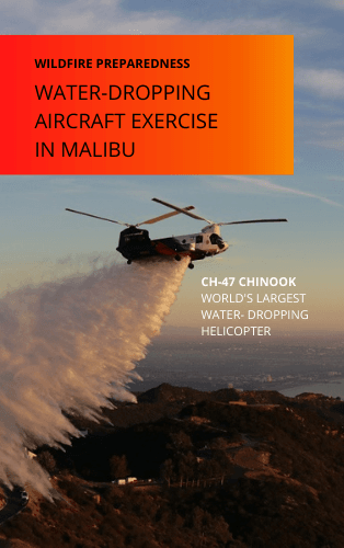 WATER-DROPPING AIRCRAFT EXERCISE