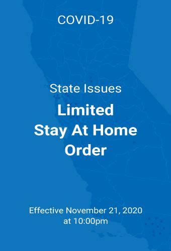 CA Limited Stay at Home Order
