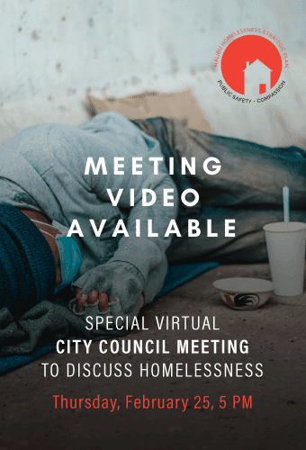 homelessness meeting video available