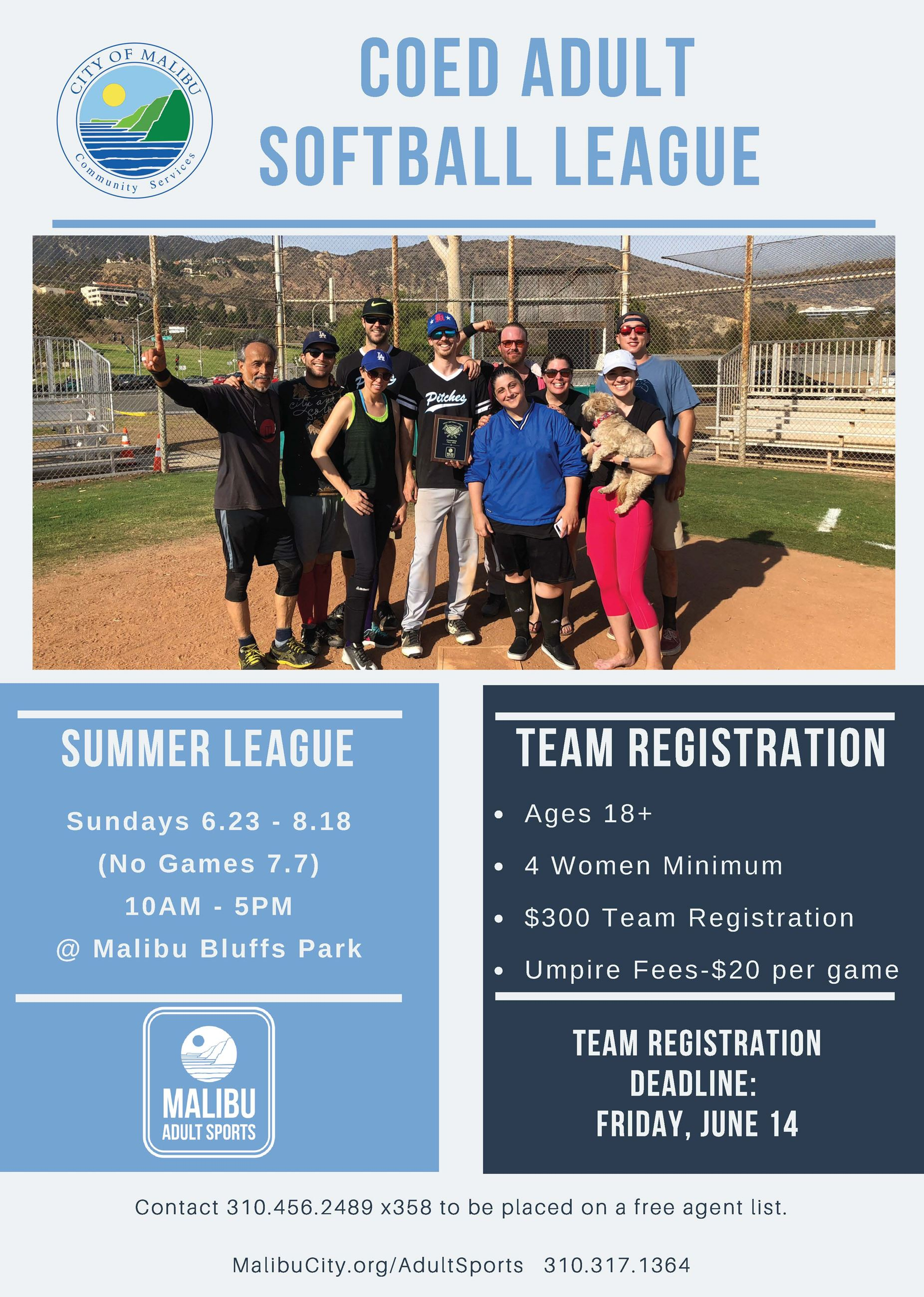 ADULT SOFTBALL LEAGUE