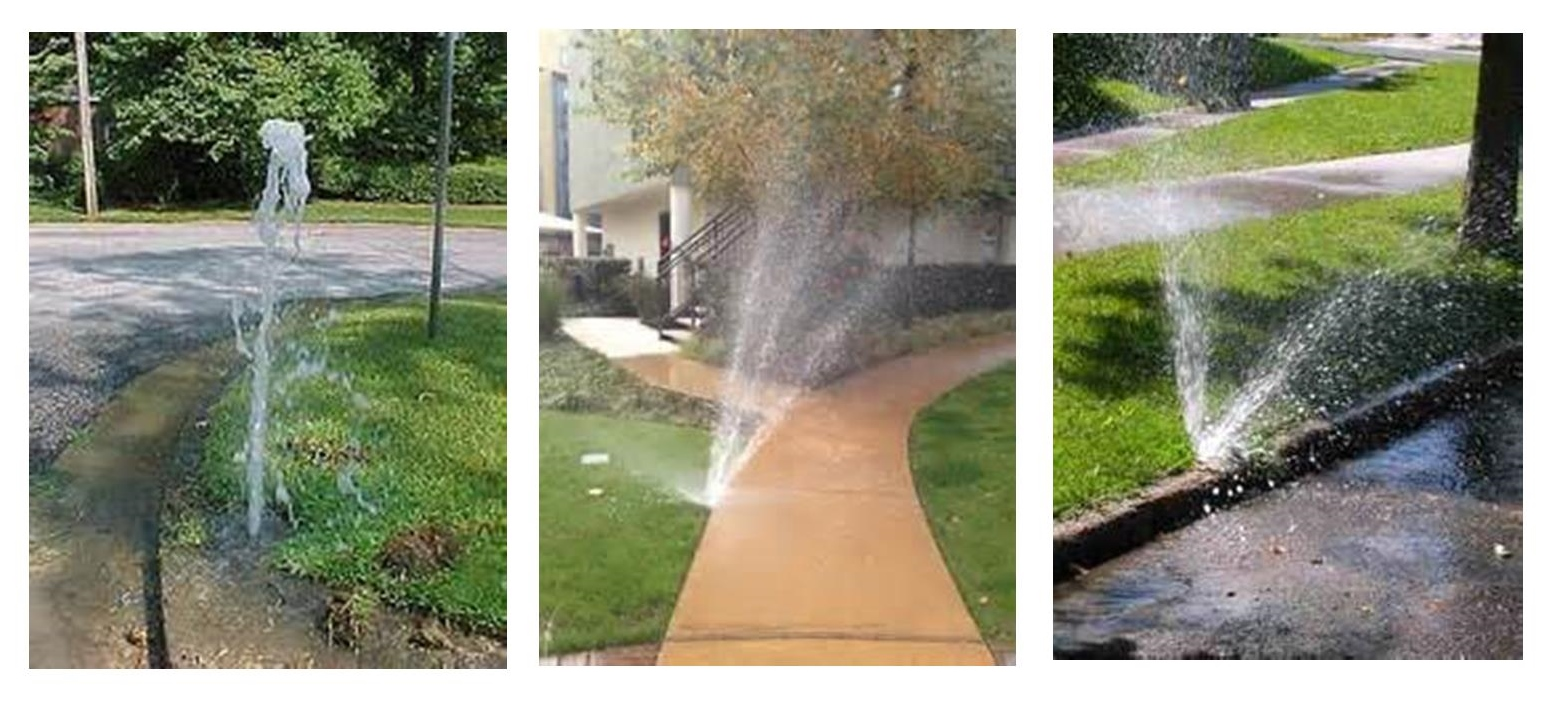 examples of water wasting